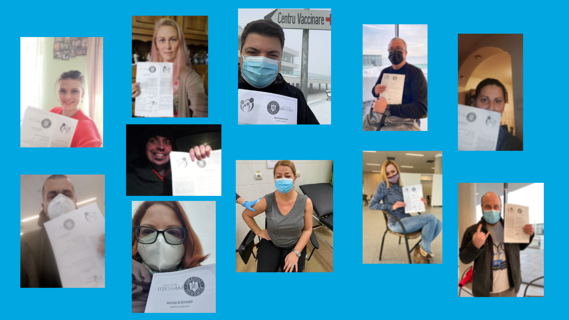 AHA Vaccination Selfie Collage